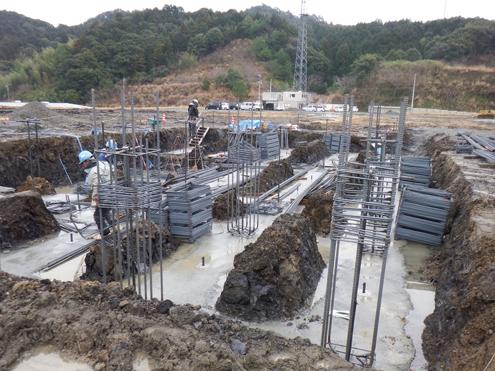 ボイラー基礎工事 2014/2/18 撮影 ボイラー設置部分の基礎となります。